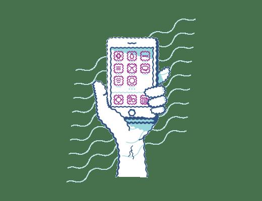 Mirar un teléfono con visión distorsionada cuando tienes astigmatismo